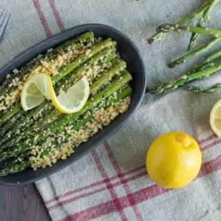 Grilled Asparagus with Parmesan Panko