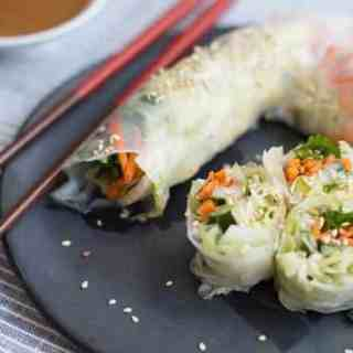 Simple Summer Rolls with Peanut Dipping Sauce