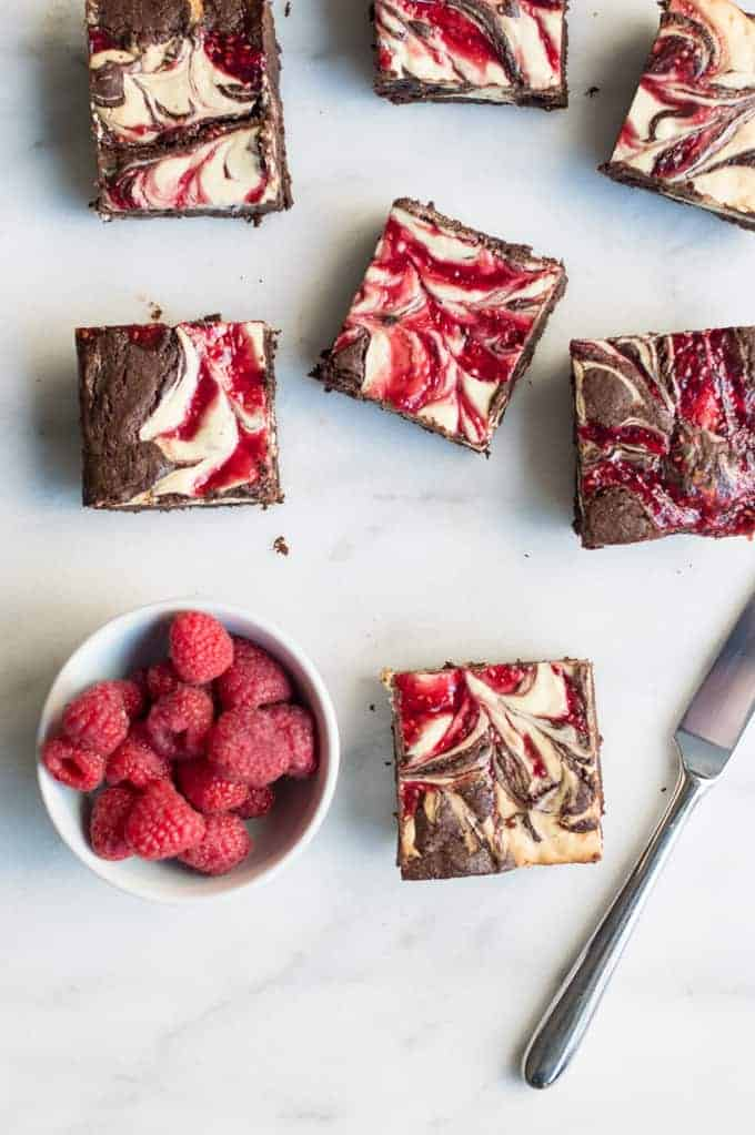 raspberry sweetheart swirl brownies| superman cooks