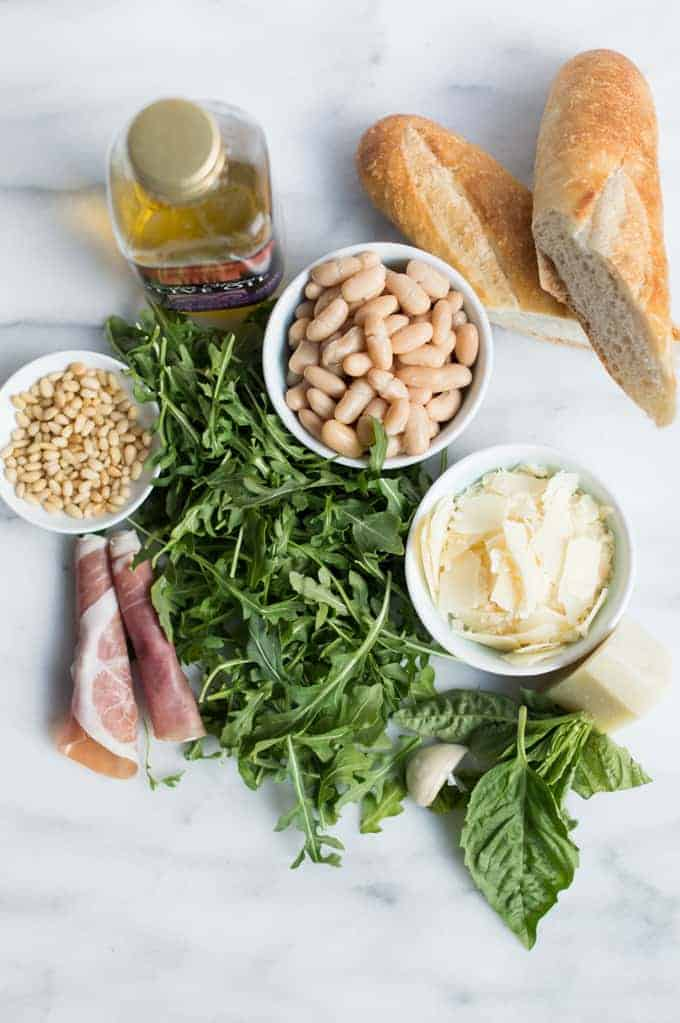 Arugula, White Bean & Prosciutto Salad | superman cooks