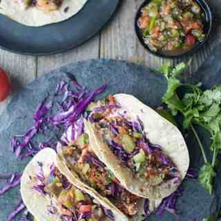 Blackened Fish Tacos with Salsa Verde