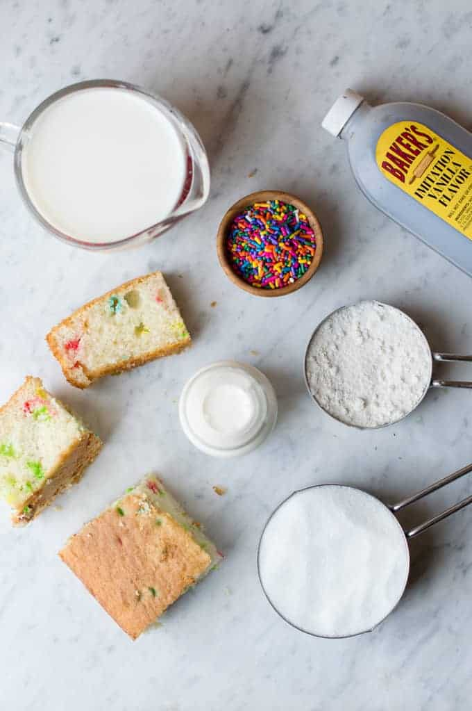 Birthday Cake Ice Cream NoChurn superman cooks