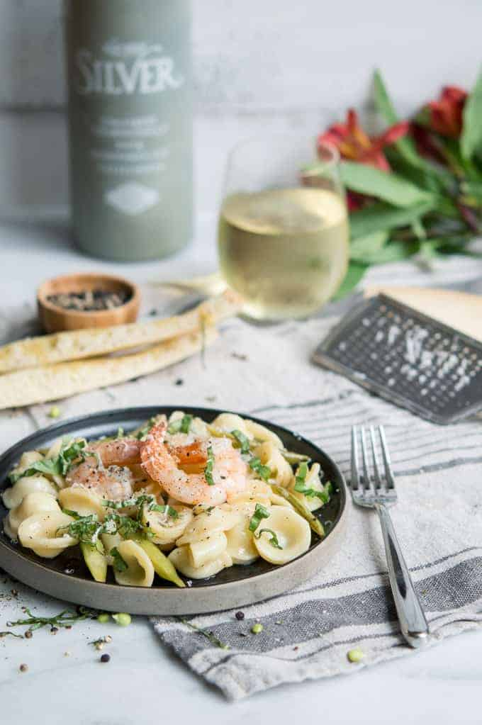 Shrimp Orecchiette With White Wine & Lemon Butter   superman cooks