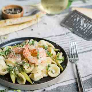 Shrimp Orecchiette With White Wine & Lemon Butter