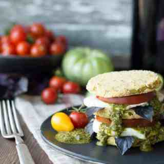 fried green tomato caprese   superman cooks