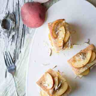 Peach and Almond Teacakes
