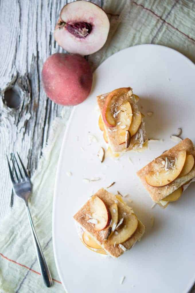 peach and almond teacakes | superman cooks