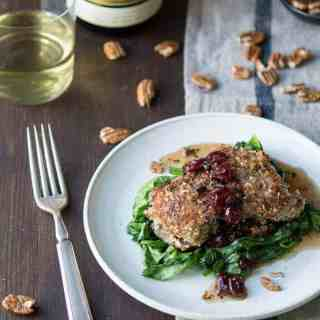 pecan-crusted cod with maple cranberry vinaigrette | superman cooks