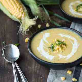 Roasted Sweet Corn & Apple Bisque