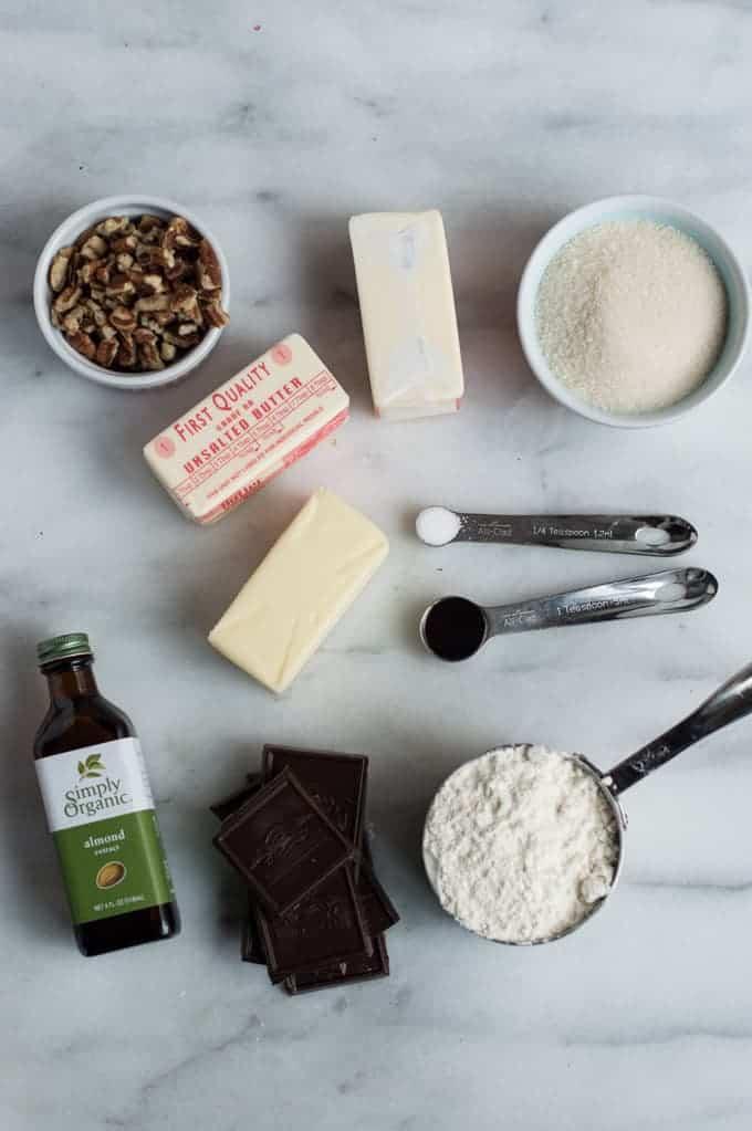 chocolate dipped pecan shortbread | superman cooks