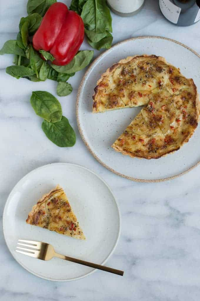 savory potato tart with leeks | superman cooks