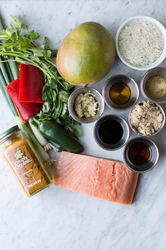 grilled salmon with caribbean mango glaze | superman cooks