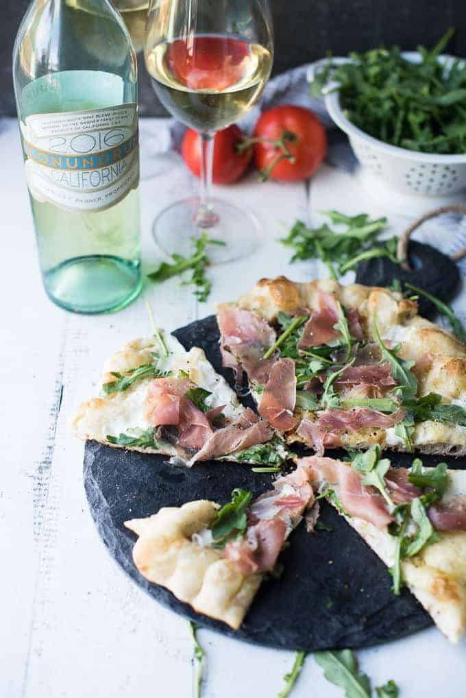 grilled prosciutto & arugula pizza | superman cooks