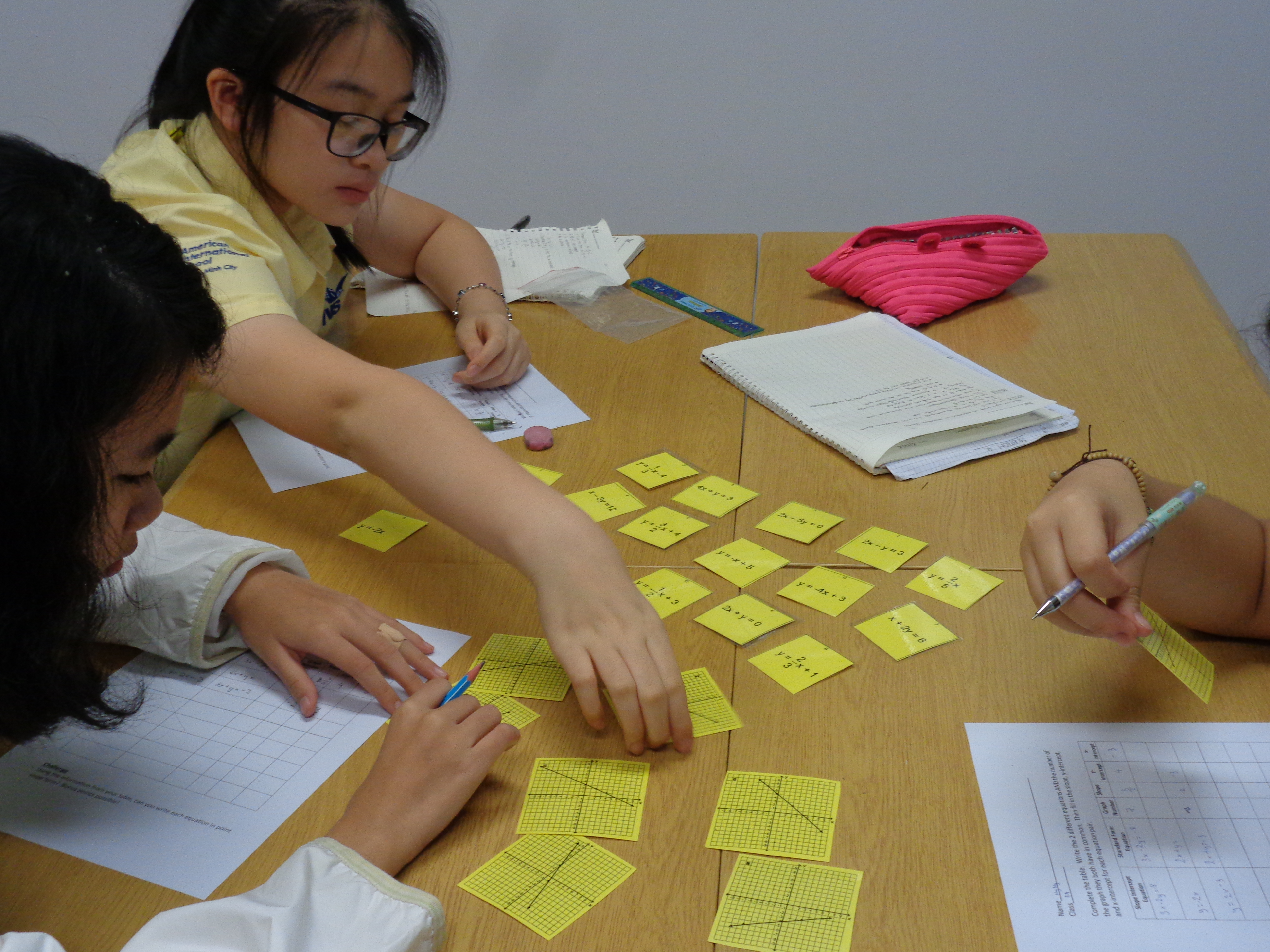 Linear Equations Matching Activity