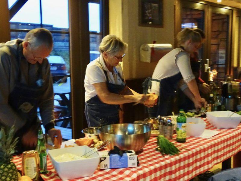 Longrée FitDays meets SuperMenU: gemeinsames Zubereitung Speisen