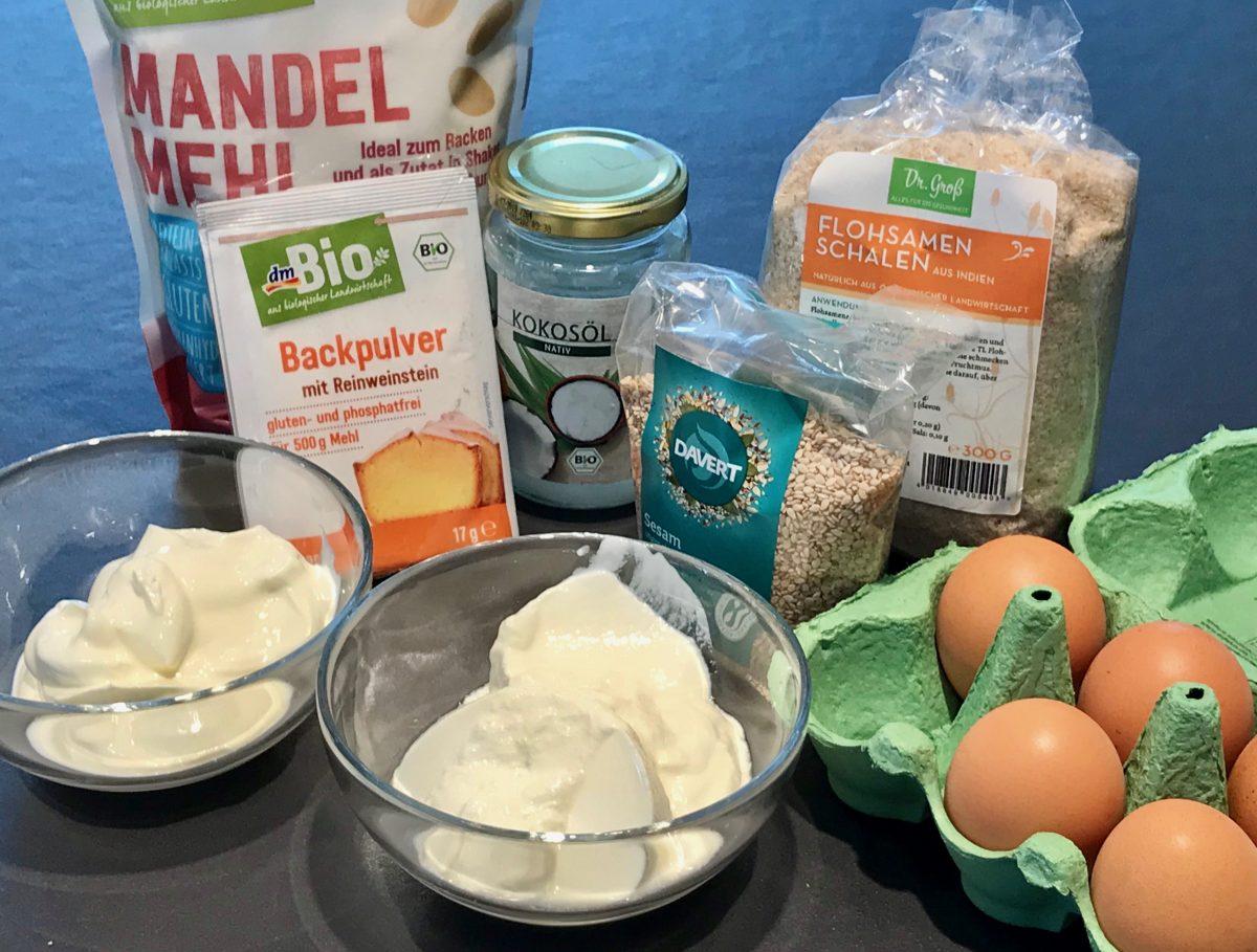 Zutaten: Glutenfreies No-Carb Mandelbrot