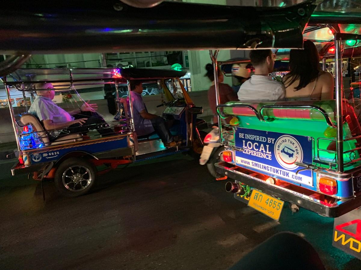 Weltreise: Bangkok Food-Tours Tuk-Tuk-Fahrt