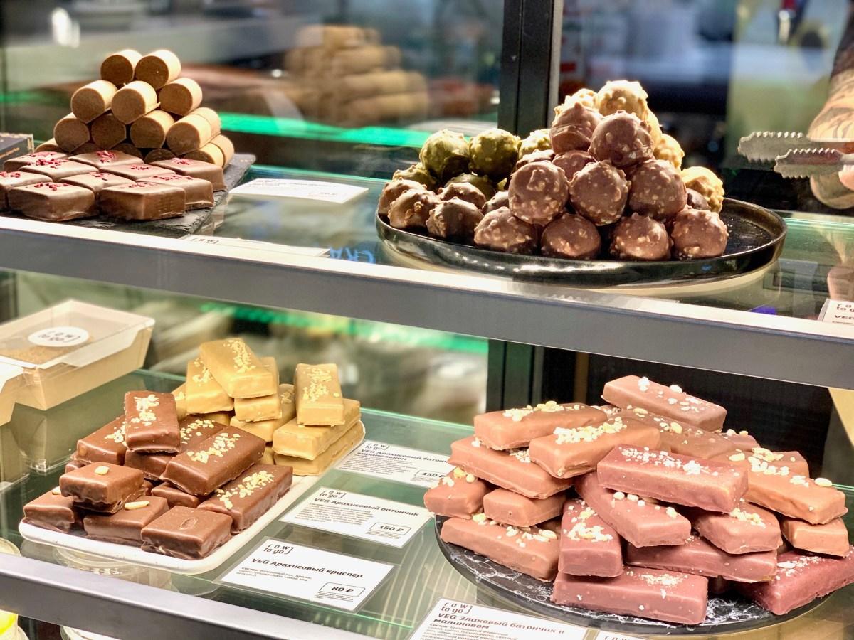 Moskau Gastromarket Balchug vegane Pralinen