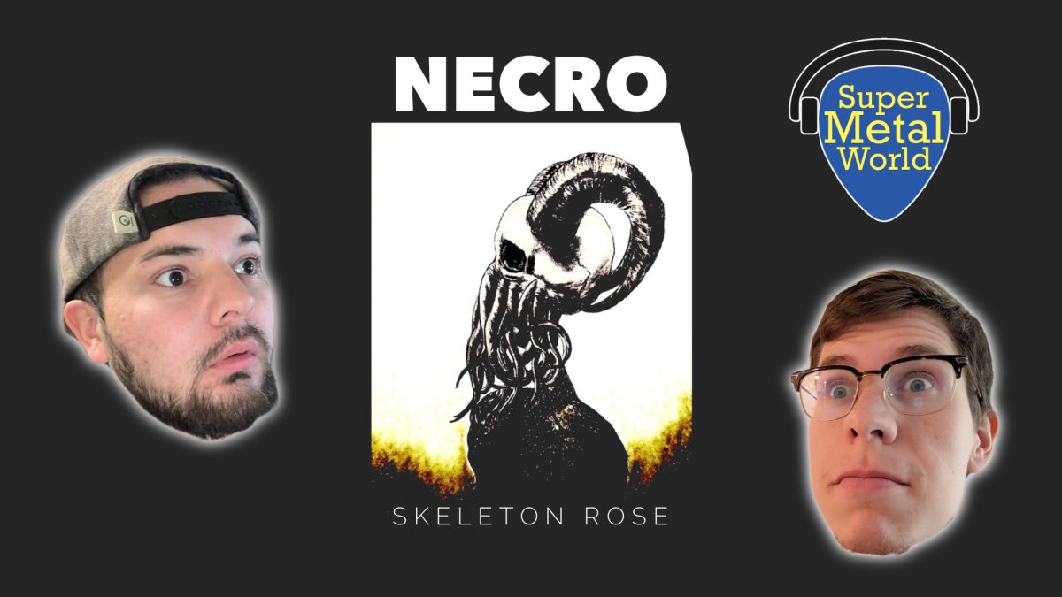 Necro album cover skeleton