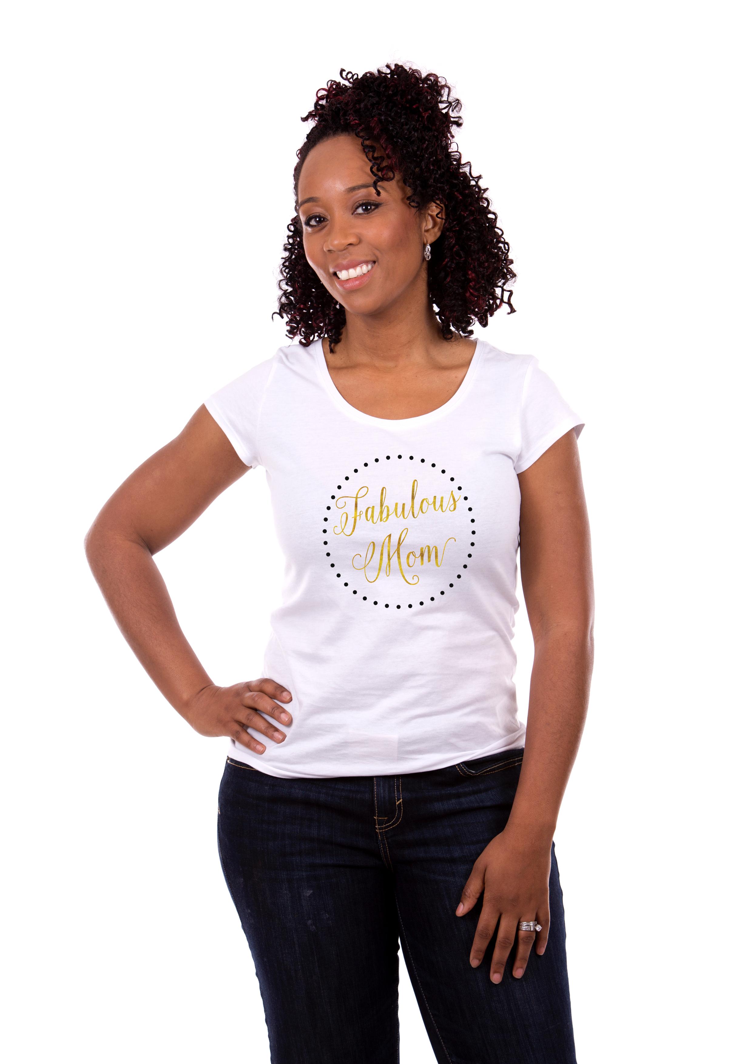 Fabulous Mom T Shirt White
