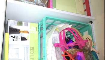 Wondering what to do with a small closet in your kids' room? Adding DIY custom closet shelving is an easy weekend DIY kids' closet makeover.