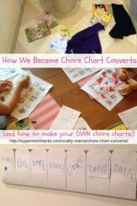 I used to think chore charts were silly, but now we're a family of chore chart converts. This is the story of how we got there, plus a tutorial to make your own!