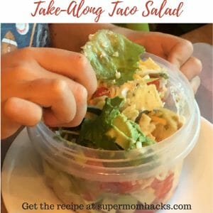 Are your kids' school lunches ready for a reboot? This Take-Along Taco Salad recipe that the girls helped me create is both delicious AND nutritious.