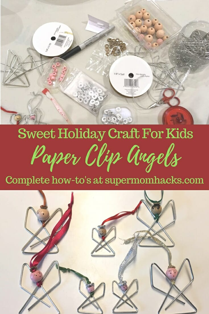 Paper Clip Angels Sweet Easy Holiday Craft For Kids Super Mom Hacks