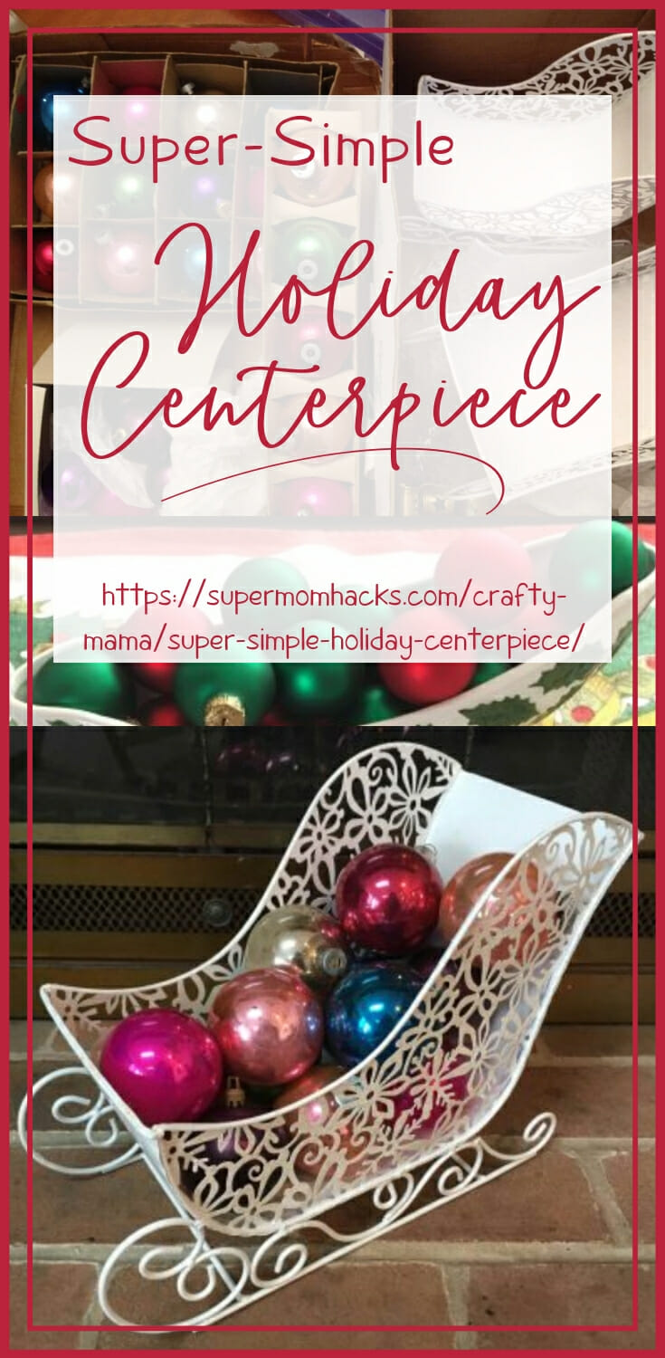 Looking for a quick and easy holiday centerpiece idea? Here's one you can throw together in a few minutes, with supplies you probably already have.