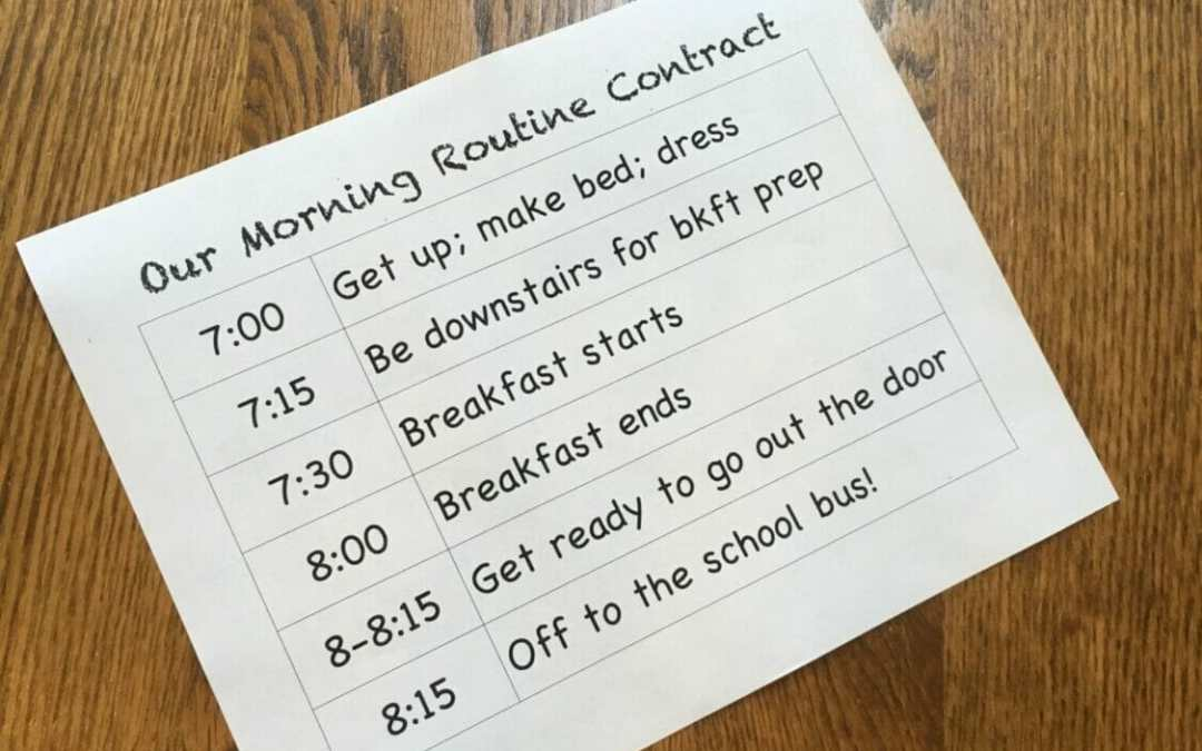 the pizza cow morning routine contract super mom hacks