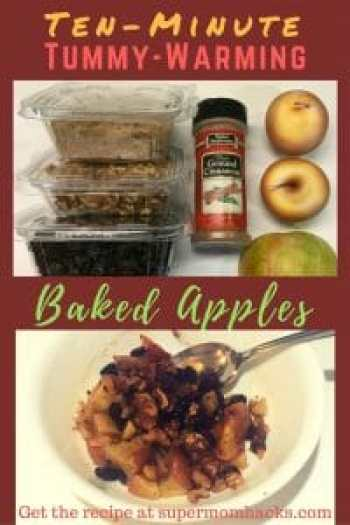Want a tummy-warming, healthy start to your day? These baked apples are as yummy as the ones I grew up with, but are ready in a fraction of the time.