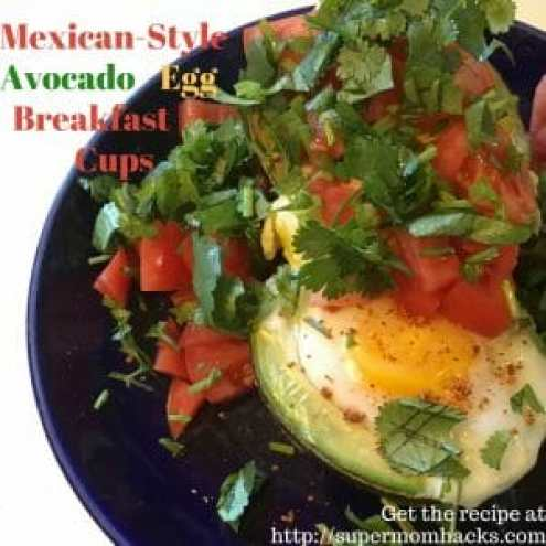 Looking for a healthy, filling breakfast treat that will get your family to the table? Try Mexican-Style Avocado Egg Breakfast Cups - a yummy twist on a new favorite.