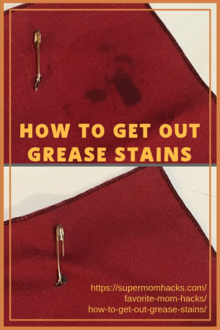 Whether cleaning up from holiday fun or everyday messes, everyone needs to know how to get out grease stains at some point. My secret works every time.