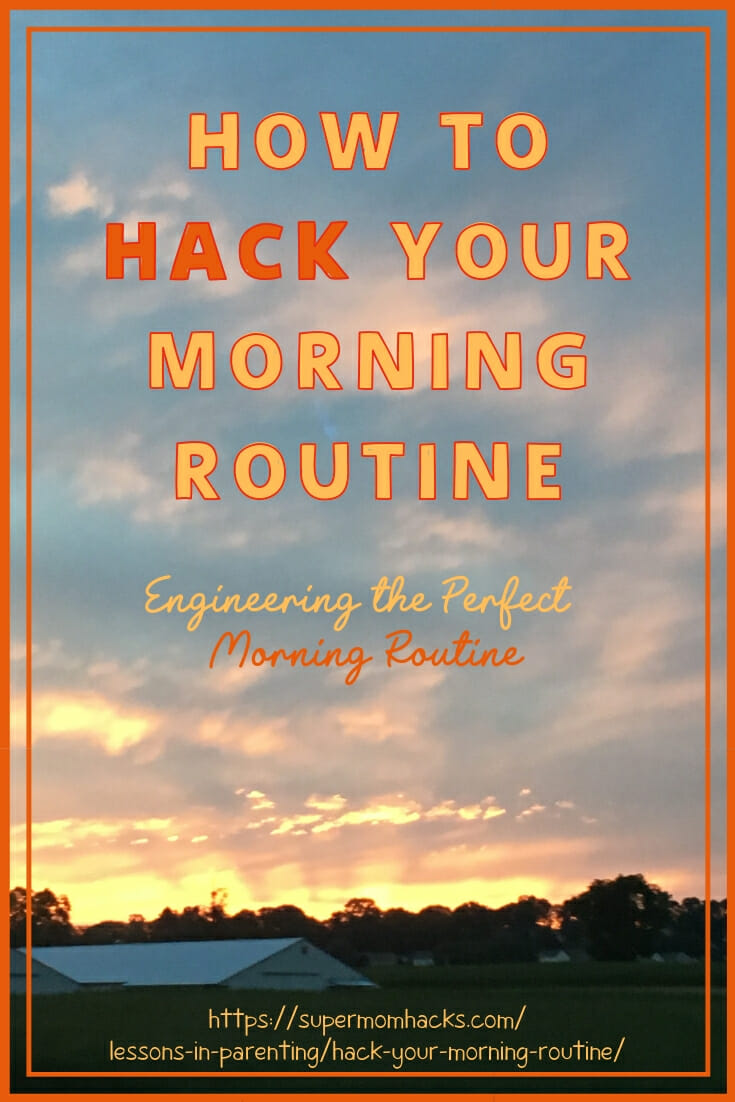 Are your mornings out of control? Need an intervention? What you NEED are these tips for how to hack your morning routine; your family will thank me!