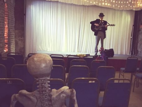 Photo of William Sutton performing at Day of the Dead 2 during Portsmouth DarkFest 2017