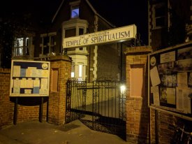 Photo of the Portsmouth Temple of Spiritualism during the Spiritualism in World War One event at Portsmouth DarkFest 2017