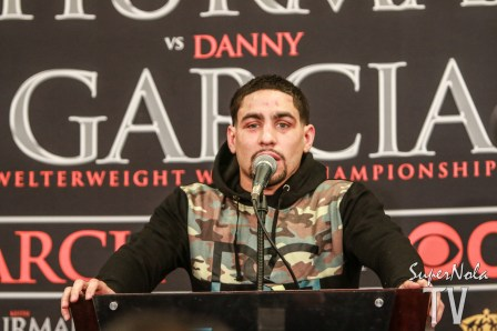 DANNY GARCIA TAKES QUESTIONS AT THE POST FIGHT PRESS CONFERENCE