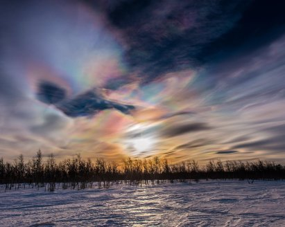"""""""Polar stratospheric clouds all day today here in #Kiruna."""""""