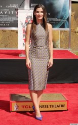 "Sandra Bullock Hand And Footprint Ceremony At TCL Chinese Theatre Celebrating The Release Of Her New Film ""Gravity"""
