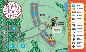 Map of SuperPartyWonderday activities