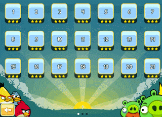 unlocking all levels in angry birds
