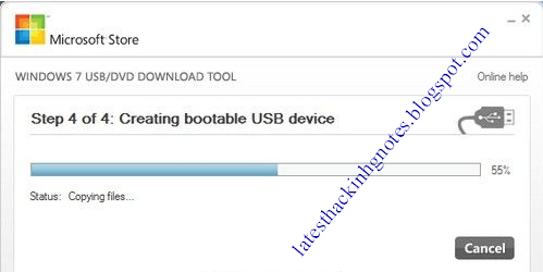 creating bootable USB device