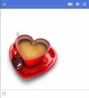 cup of tea in heart shape facebook emoticon