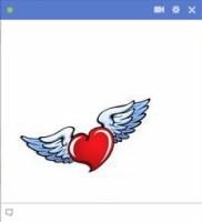 angel heart facebook emoticon