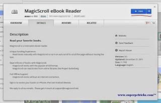 MagicScroll Ebook Reader for chrome