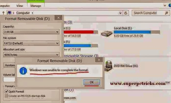 How to Repair a Corrupted SD card / USB Hard drive -Tips