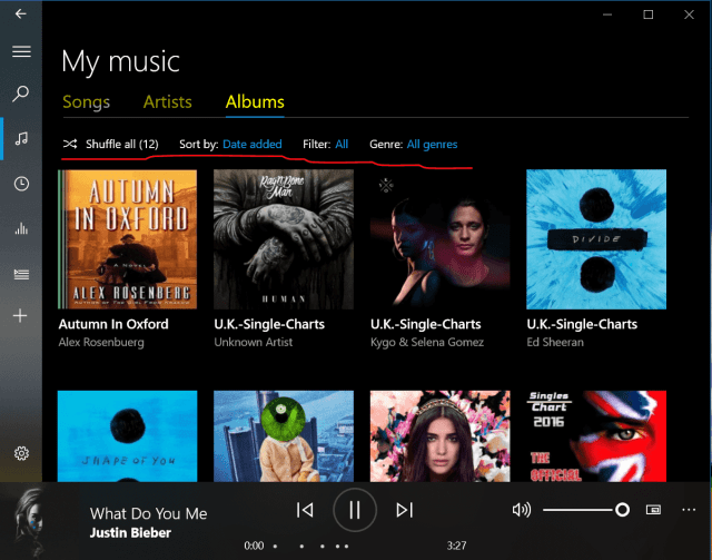 sync groove music to phone