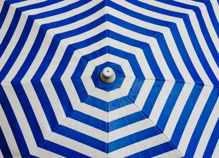Blue Summer Umbrella