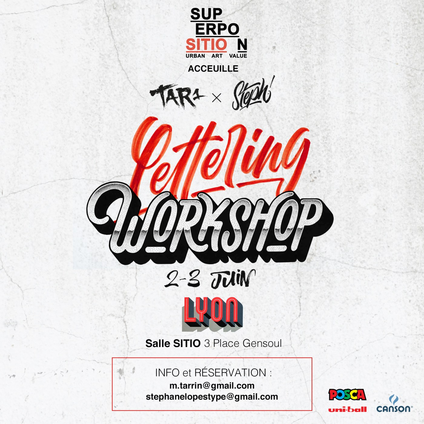 Lettering Workshop • 2 – 3 juin