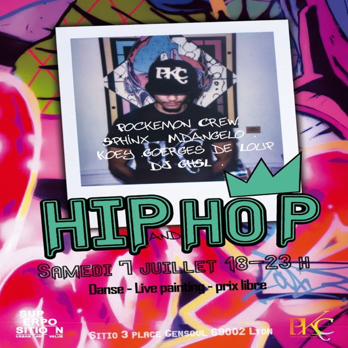 Soirée Hip & Hop w/ Pockemon Crew • 7 juillet